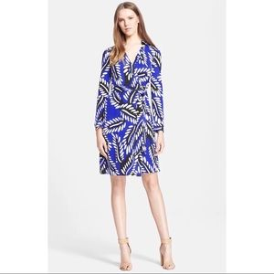 Diane Von Furstenberg New Jeanne 2 Silk Wrap Dress